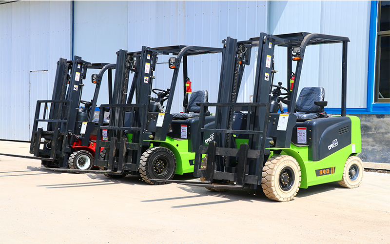 4 wheel electric forklift truck, electric counterbalanced fork lift truck